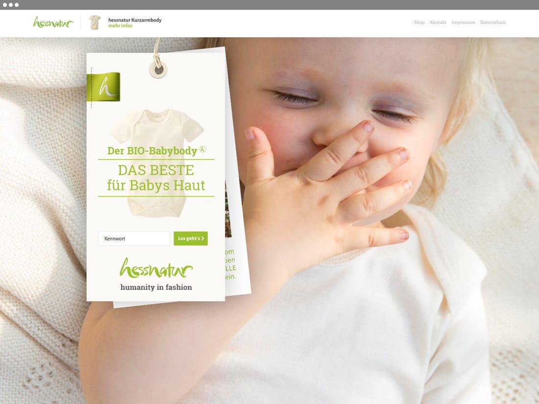 hessnatur Microsite - Startseite