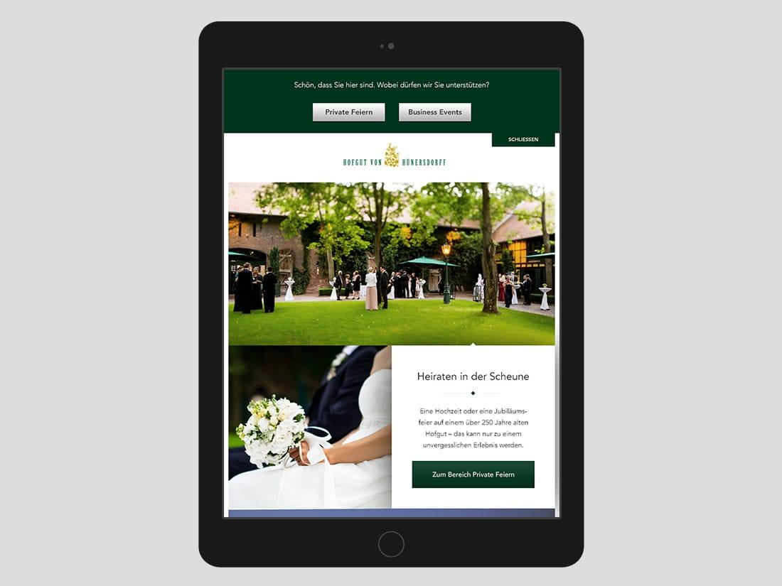 Hofgut von Hünersdorff - iPad Version