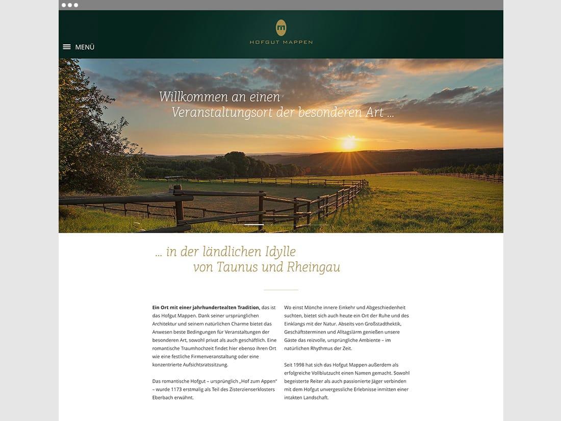 Hofgut Mappen Startseite